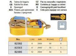 Ремень ремінь кріплення багажу тріщатка 2500daN 50мм х 6м VOREL-82392