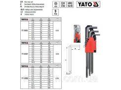 Набор ключи шестигранники  з шаром 15-10мм CrV 9шт YATO-0505