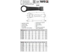 Ключ накидной ударный М=24 мм l=160 мм CrV YATO-1601
