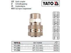 """Быстросъемная швидкоз'єднувальна муфта внутрішня різьба Ø= 3/8"""" YATO-2394"""