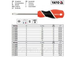 Отвертка викрутка шліцева l= 200 мм шліц= 4 мм YATO-25906