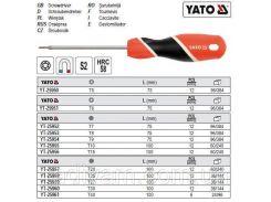Отвертка викрутка TORX T15 l= 100 мм YATO-25956
