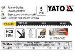 Набор полотно для електролобзика (дерево) 8TPI l=115мм 5шт YATO-3409