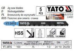 Набор полотно для електролобзика (метал) 24-10TPI l=100мм 5шт YATO-3415