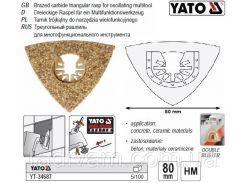 Рашпиль-насадка 3-кутний для реноватора 80х80х80 мм YATO-34687