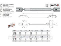 Ключ торцевий шарнірна головка 18х19мм DW YATO-4964