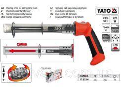 Термонож термоніж до пінопласту W= 220 Вт 70 - 450°С l= 220 мм YATO-82190