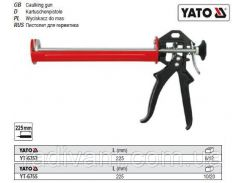 Пистолет пістолет півкруглий для нанесення герметиків l= 225 мм YATO-6753