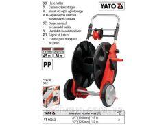 """Стойка стійка котушка колеса направляюча для шлангу Ø-1/2""""-50 м Ø-3/4""""-45 м YATO-99853"""