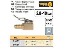 Насадка помпи 8мм 2,8-10 Bar  VOREL-81653