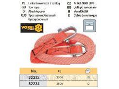 Трос автомобільний буксирний 2,5т VOREL-82232