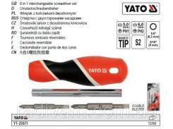 Отвертка викрутка дві 2-сторонні насадки YATO-25971