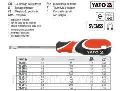Отвертка викрутка шліцева плоска 60х38мм YATO-2612