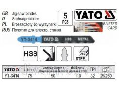 Набор полотно для електролобзика (метал) 32TPI l=75мм 5шт YATO-3414