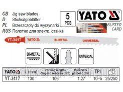 Набор полотно для електролобзика (метал) 10-5TPI l=130мм 5шт YATO-3417