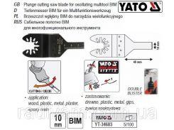 Пила насадка для реноватора заглиблююча BIM 40 х 10 мм YATO-34683