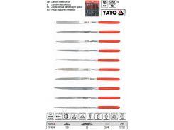 Набор надфиль алмазный алмазний l= 140/50 мм b= 3 мм 10 шт YATO-6144