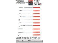 Набор надфиль алмазный алмазний фігурні l= 140/25 мм b= 3 мм 10 шт YATO-6145