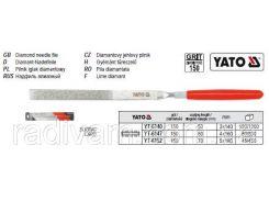 Надфиль алмазный алмазний плоский l= 160/50 мм b= 4 мм YATO-6147
