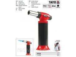 Паяльник газовий п'єзозапал з заряджаючою ємністю 60 мл YATO-6700