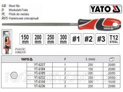 Напильник по металлу круглый l=200 мм #2 YATO-6189