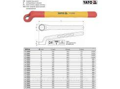 Ключ накидной выгнутый изолированный VDE 1000 В М11 YT-20985