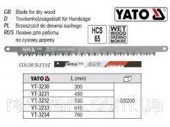Полотно для лучкової ножовки HCS 65  l=300 мм YATO-3230