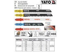 Набор полотно для електролобзика МІХ l=75-100мм 5шт YATO-3445
