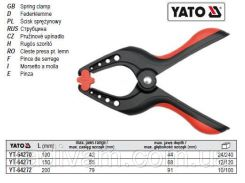 Струбцина пружинна прищіпка L= 200 мм висота/глибина 75/91 мм YATO-64272