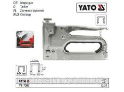 Степлер  для скоб b=11,3 мм h= 4-14 мм t= 0,7 мм YATO-7007