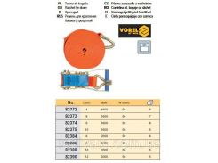 Ремень ремінь кріплення багажу тріщатка гачок 5т 2000daN 50мм х 12м VOREL-82390