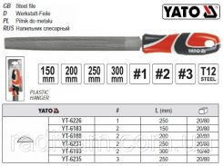 Напильник по металлу полукруглый l=150 мм #2 YATO-6183