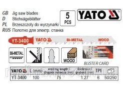 Набор полотно для електролобзика BI-METAL (дерево) 6TPI  l=100м 5шт YATO-3400