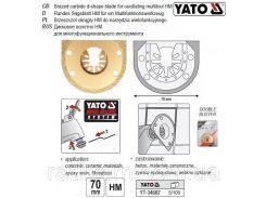 Пила насадка HSS сегментна для реноватора Ø= 70 мм YATO-34682