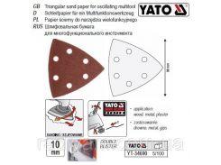 Набор бумага папір шліфувальний для реноватора 90х90х90 мм 10 шт YATO-34690