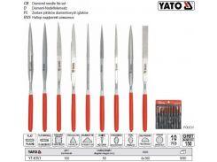 Набор надфилей алмазных 4х160х50 мм 10 штук YT-6151