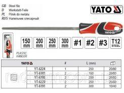 Напильник по металлу квадратный l=200 мм #2 YATO-6186