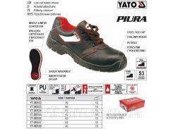 Туфли рабочие PIURA кожа полиуретан размер 40 YT-80553