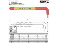 Ключ изолированный HEX М8 l=200 мм VDE 1000В YT-21125