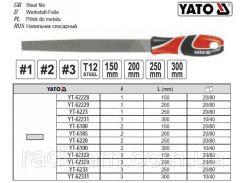 Напильник по металлу плоский l=200 мм #3 YT-62329