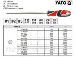 Напильник по металлу круглый l=300 мм #3 YT-62361