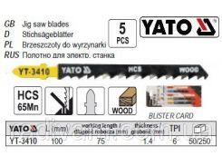 Набор полотно для електролобзика (дерево) 6TPI l=100мм 5шт YATO-3410