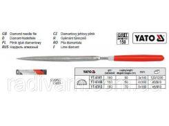 Надфиль алмазный алмазний півкруглий l= 140/50 мм b= 3 мм YATO-6141