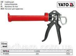 Пистолет пістолет скелетний для нанесення герметиків l= 225 мм YATO-6751