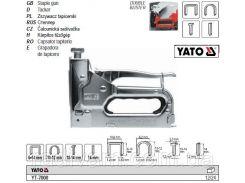 Степлер для скоб і цвяхів b=10,6 мм h= 6-14 мм t= 1,2 мм YATO-7000