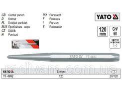 Пробойник кернер - пробійник l= 120 мм CrV YATO-4692