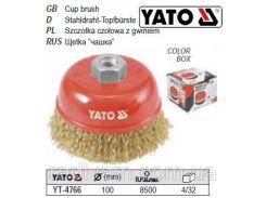 Щетка щітка - крацовка чашка Ø=100мм YATO-4766