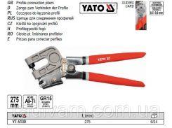 Щипцы щипціі для з'єднання металевого профіля l=275мм YATO-5130