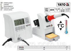 Паяльна станція цифрова індукційна Р= 48 Вт t°= 150-450°С жало Ø= 7,1 мм l= 65 мм YATO-82455