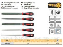 Набор напильники l=200мм 5шт VOREL-25166